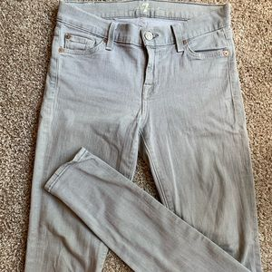 7 for all Mankind Gray Jeans